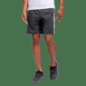 Short-Adidas-Fitness-4KRFT-Heather-3-Stripes