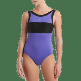 Traje-De-Baño-Cuello-Alto-D-Nike-Swim-Azul