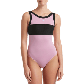 Traje-De-Baño-Cuello-Alto-D-Nike-Swim-Rosa